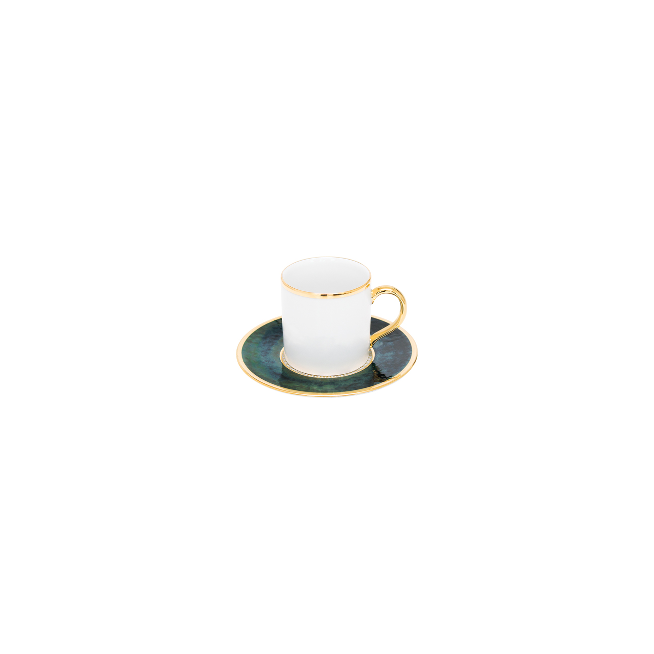 Premium Gold | Chávena Café 9cl Bia + Pires 11cm Bia 1
