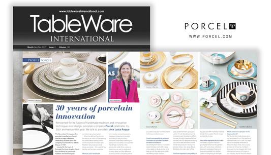 Porcel em destaque na revista Tableware 1