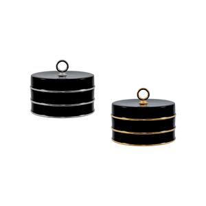 Black PT Caixa Redonda 13cm + Black OB Caixa Redonda 13cm 0