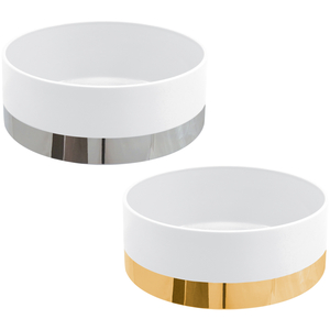 Golden Centro Mesa 25cm Pure Shape + Silver Centro Mesa 25cm Pure Shape 0