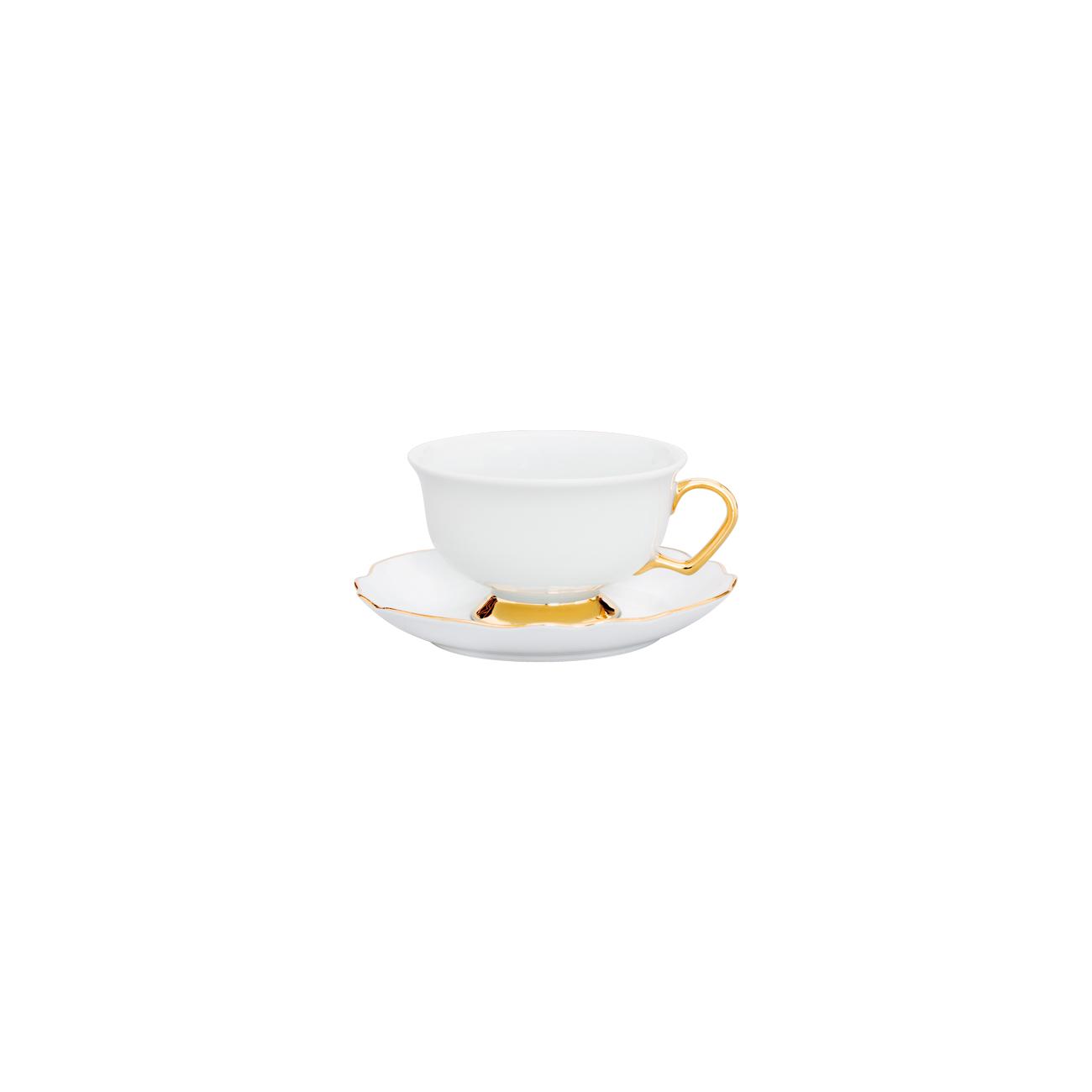 Chávena Chá 24cl Rim PK + Pires Chá 14cm Viena 0