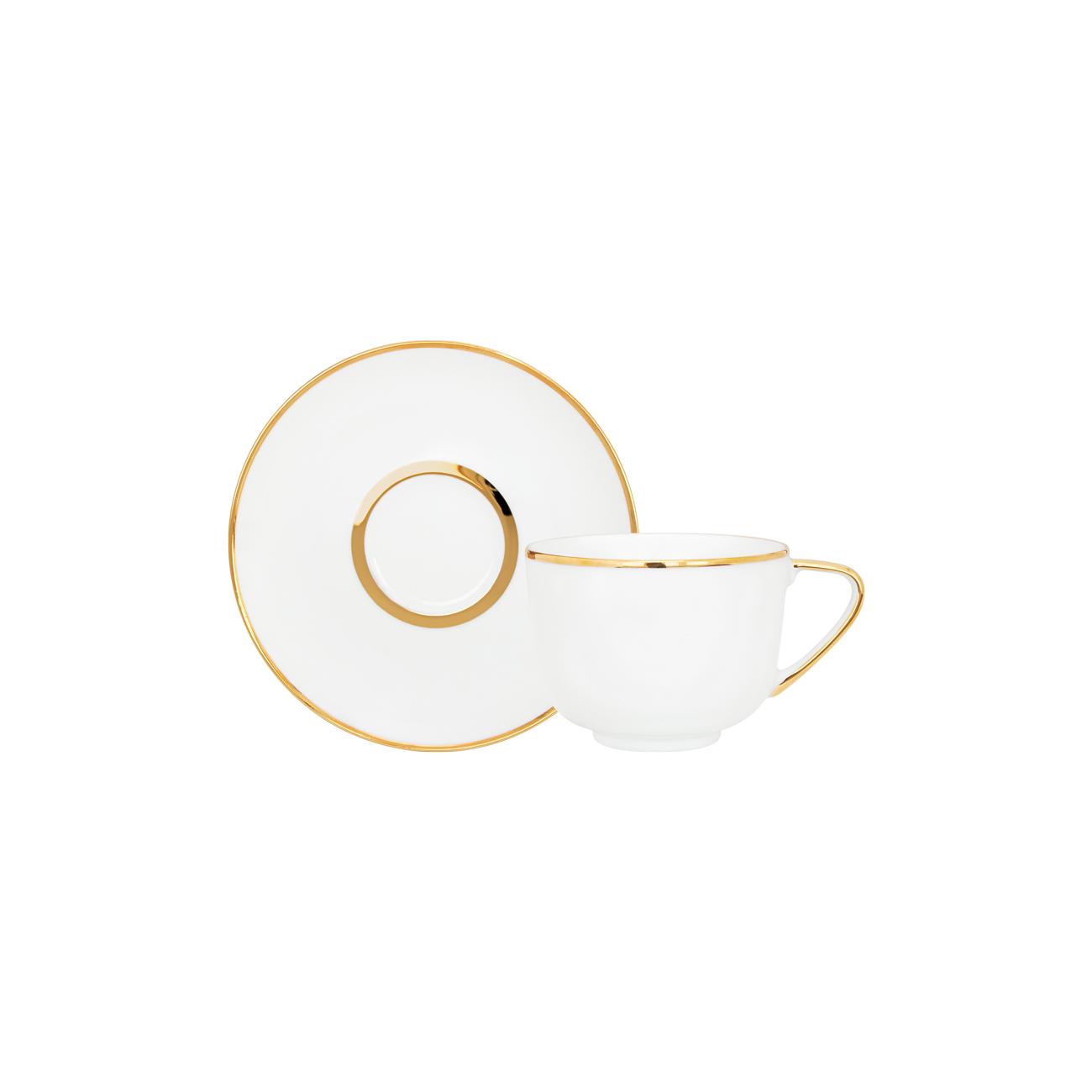 Pires Chá 15cm Olympus + Chávena Chá 28cl Coupe 0