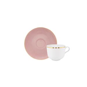Golden | Chávena Chá 28cl Antar + Apricot Gold | Pires Chá 15cm Olympus 0