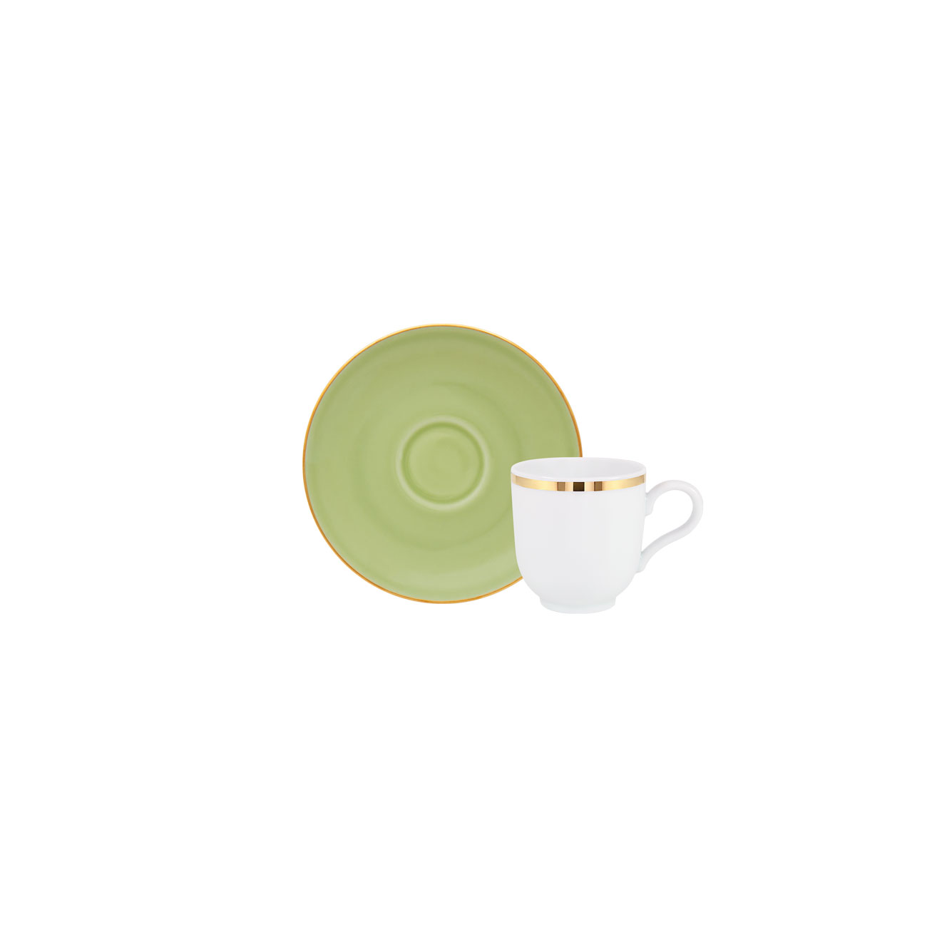 Golden | Chávena Café 10cl Antar + Matcha | Pires Café 12cm Olympus 0