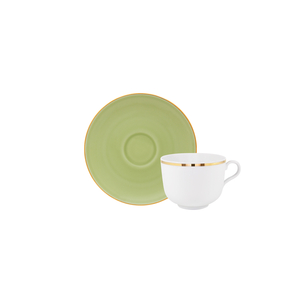 Golden | Tea Cup 28cl Antar + Matcha | Tea Saucer 15cm Olympus 1