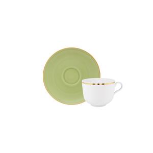 Golden   Tea Cup 28cl Antar + Matcha   Tea Saucer 15cm Olympus 1