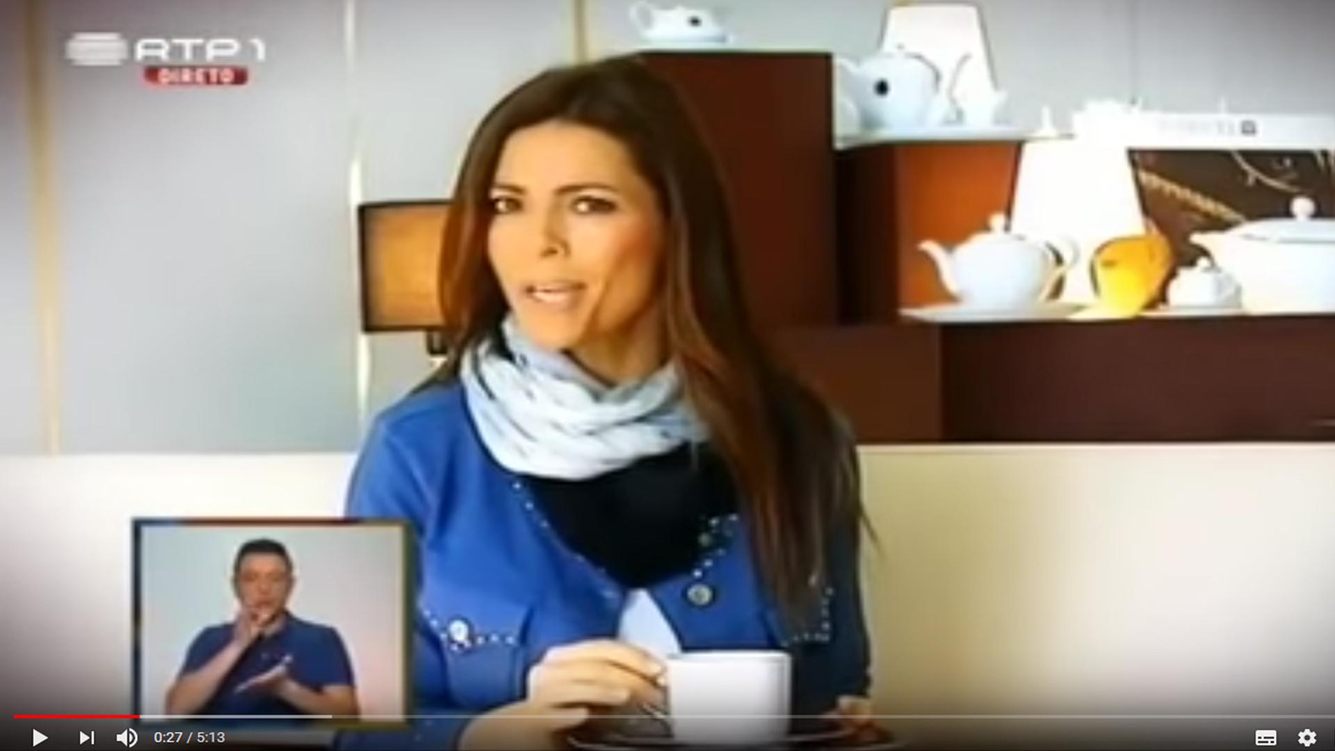 Porcel at Aqui Portugal television show 1