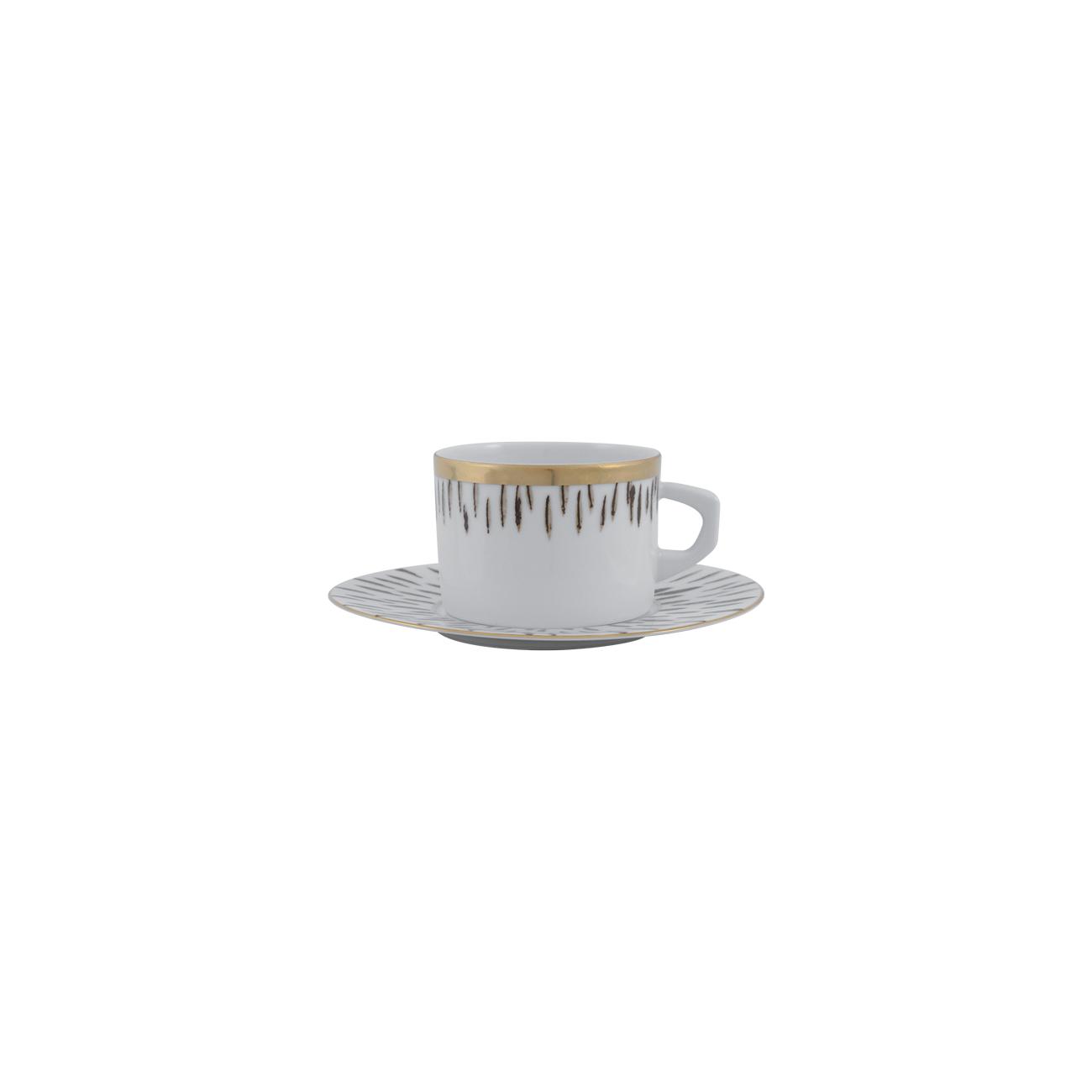 Tea Cup 23cl New Alma + Tea Saucer 16cm Myth 1