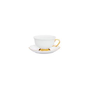 Chávena Chá 24cl Rim PK + Pires Chá 14cm Viena 1