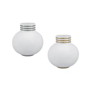 White PT Jarra Redonda 14cm Arienne + White OB Jarra Redonda 14cm Arienne 0