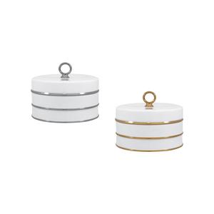White PT Caixa Redonda 13cm + White OB Caixa Redonda 13cm 0