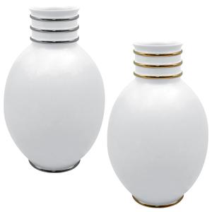 White PT Vaso Ovo 45cm Arienne + White OB Vaso Ovo 45cm Arienne 0