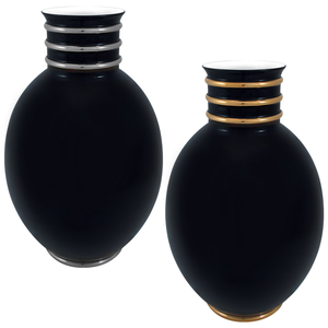 Black PT Vaso Ovo 45cm + Black OB Vaso Ovo 45cm 0